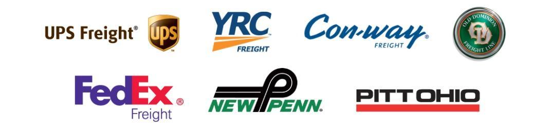 UPS, YRC, Conway, FedEX, NEwPenn, Pittohio