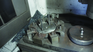 locating pin on the OD milling station