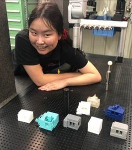 Ms. Bertz with 3D printed machines