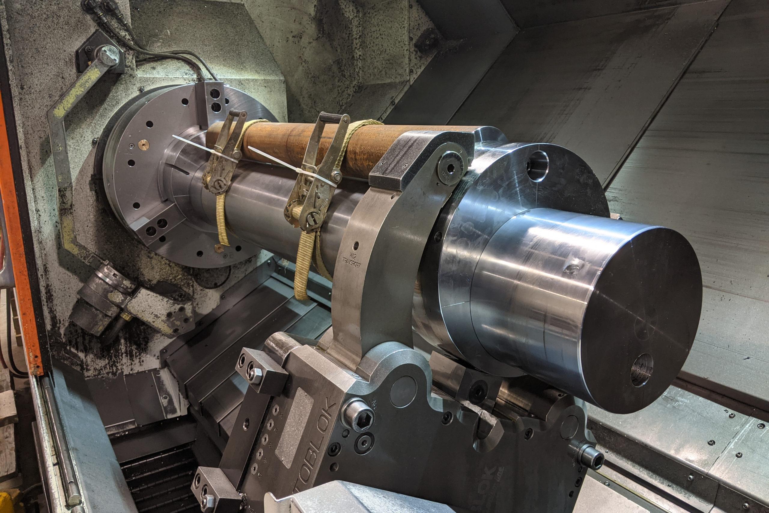 63-inch-long, 8-inch-diameter mandrel component