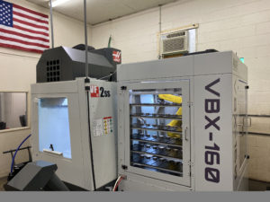 VBX-160 automation system at a Haas VF-2 VMC